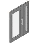 Дверной блок II класса взломостойкости и Бр2 класса пулестойкости 1300x2100 мм с максимальным остеклением Бр2