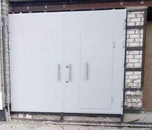 Ворота защитные утепленные с калиткой класса Бр-1 по пулестойкости и 1 класса взломостойкости
