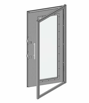 Дверной блок I класса взломостойкости и Бр1 с максимальным остеклением