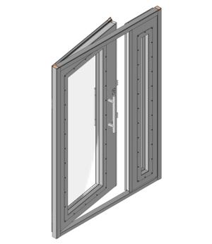 Дверной блок II класса взломостойкости и Бр2 класса пулестойкости с максимальным остеклением Бр2
