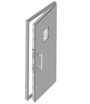 Дверной блок II класса взломостойкости и Бр2 класса пулестойкости с иллюминатором 200х300 мм