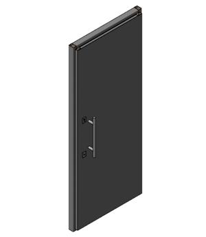 Дверной блок II класса взломостойкости и Бр2 класса пулестойкости 900x2100, У2 класс по ГОСТ Р 51242 -98