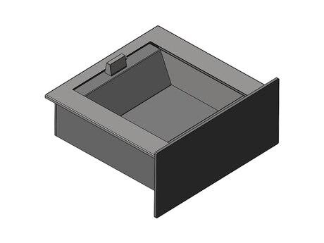 Лоток взрывостойкий выдвижной на 2 банковские упаковки Бр4 (ЛВ-2ВУВ)