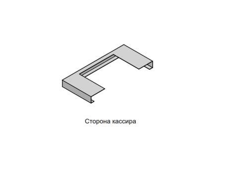Столешница КЛИЕНТ — кассир из нержавеющей стали
