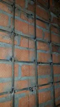 Усиление стен прутком
